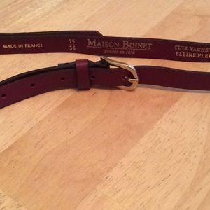Maison Boinet Thin Cowhide Belt